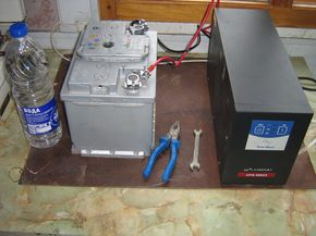 Подключил твердотопливный котел через безперебойник UPS-500ZX